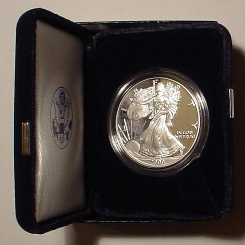2000 Proof Silver Eagle
