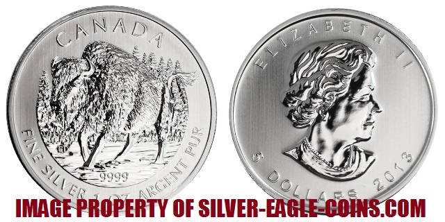 2013 Canada Silver Bison