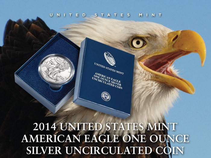2014-W Burnished Silver Eagle