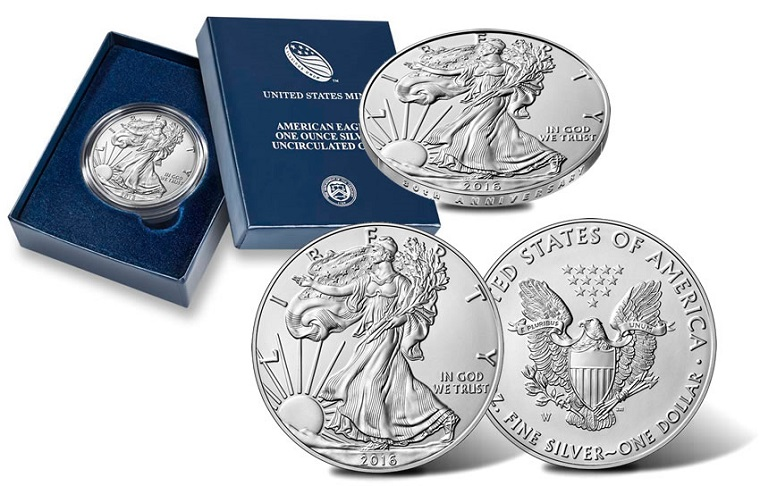 2016-W Burnished Silver Eagle