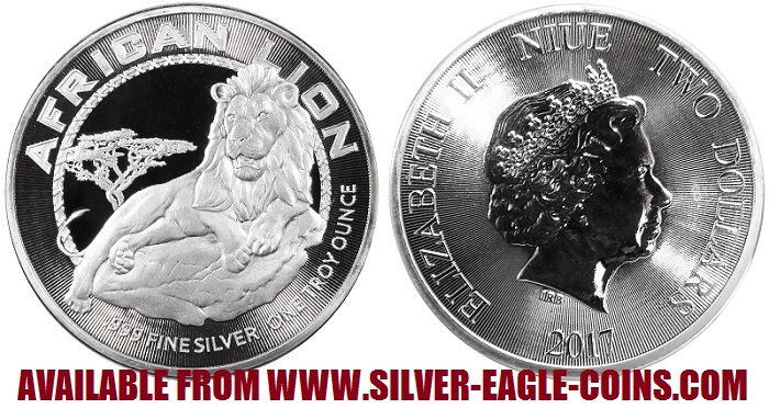 2017 African Lion Silver Coin