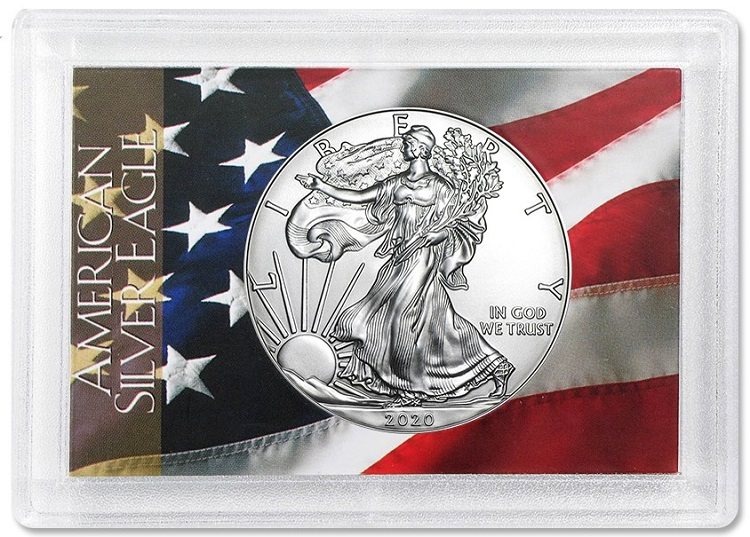 Silver Eagle Flag Gift Case