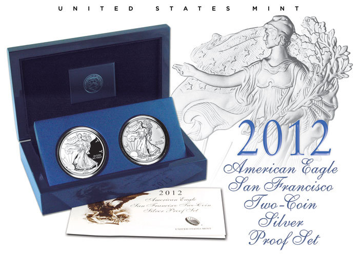2012 American Eagle San Francisco Two-Coin Silver Coin Set